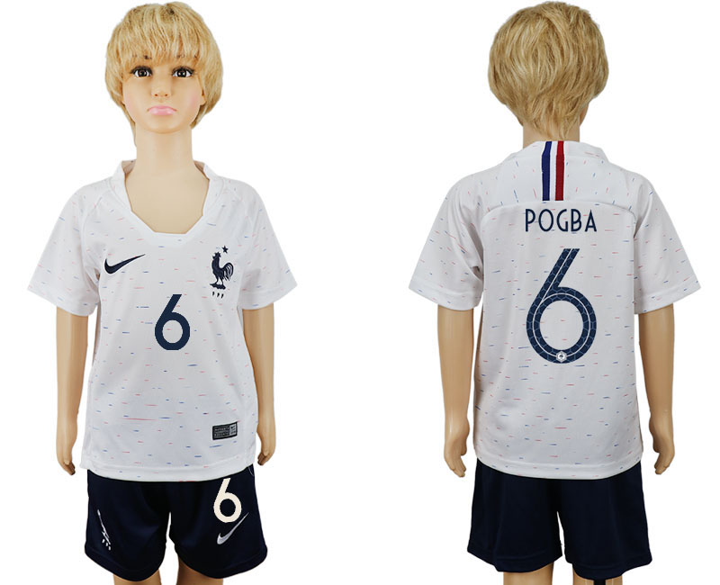 Coupe du monde de la jeunesse 2018 Coupe de France 6 maillot de football blanc