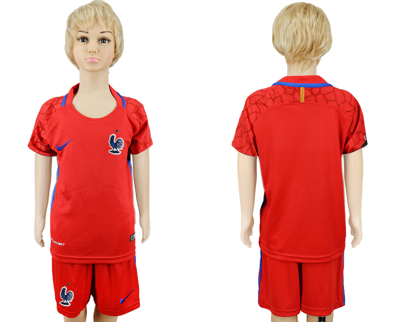 Youth 2018 World Cup France red goalkeeper soccer jersey