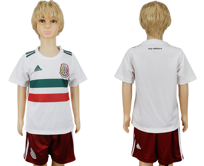 Youth 2018 World Cup Mexico away blank white soccer jersey