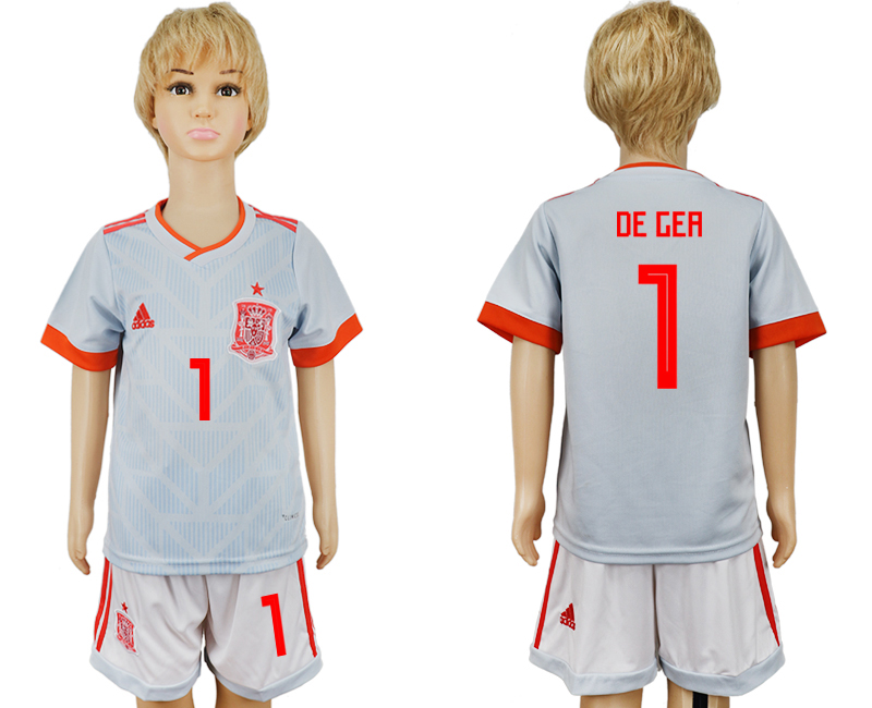 Youth 2018 World Cup Spain away 1 grey soccer jersey