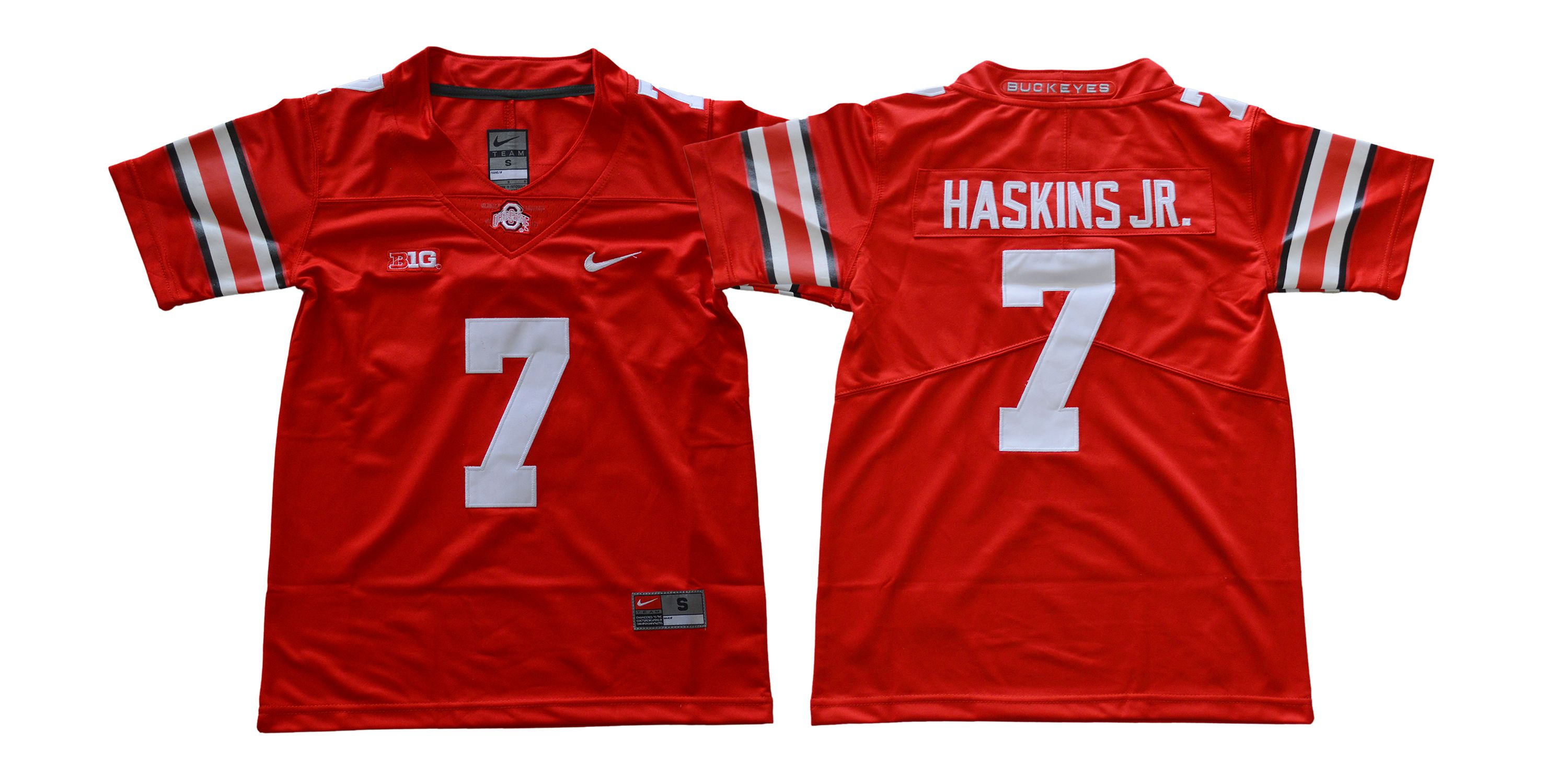 Youth Ohio State Buckeyes 7 Haskins jr Diamond Red Nike NCAA Jerseys