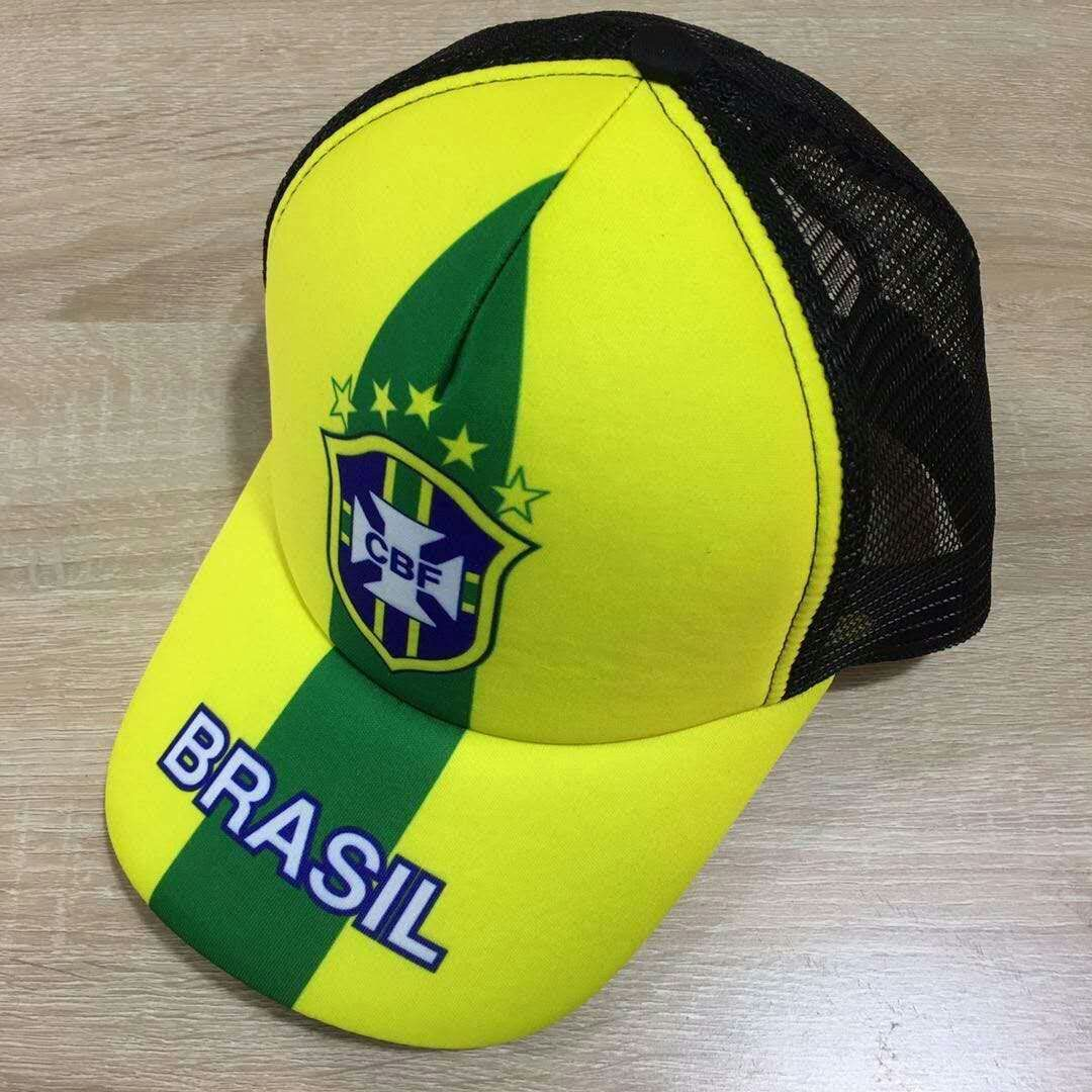 2018 Men Brazil football hat soccer jersey