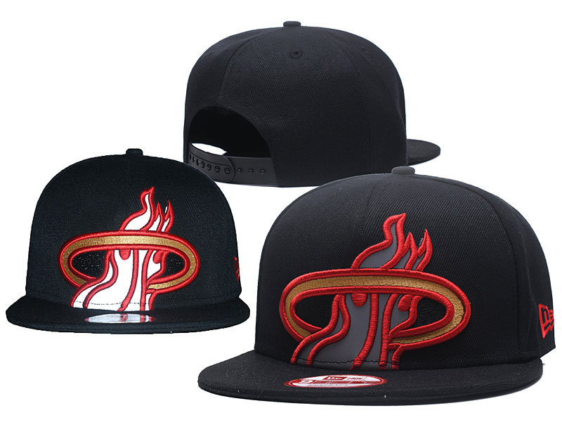 2018 NBA Miami Heat Snapback hat GSMY0604