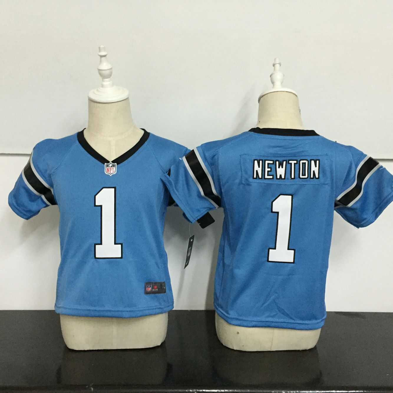 Baby Carolina Panthers 1 Newton Blue Nike NFL Jerseys
