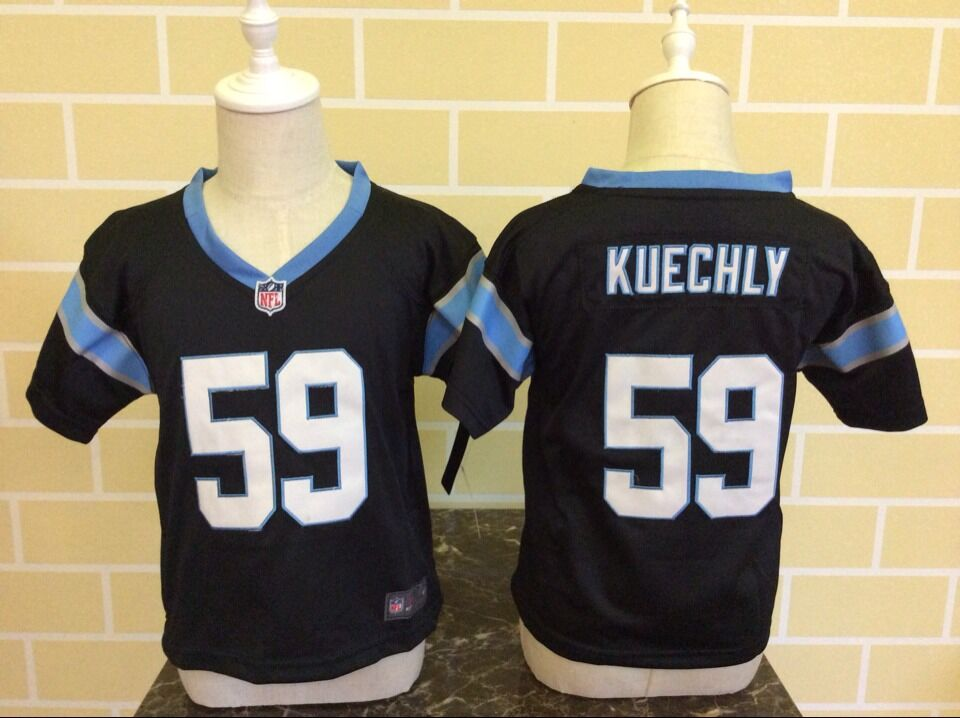 Baby Carolina Panthers 59 Kuechly Black Nike NFL Jerseys