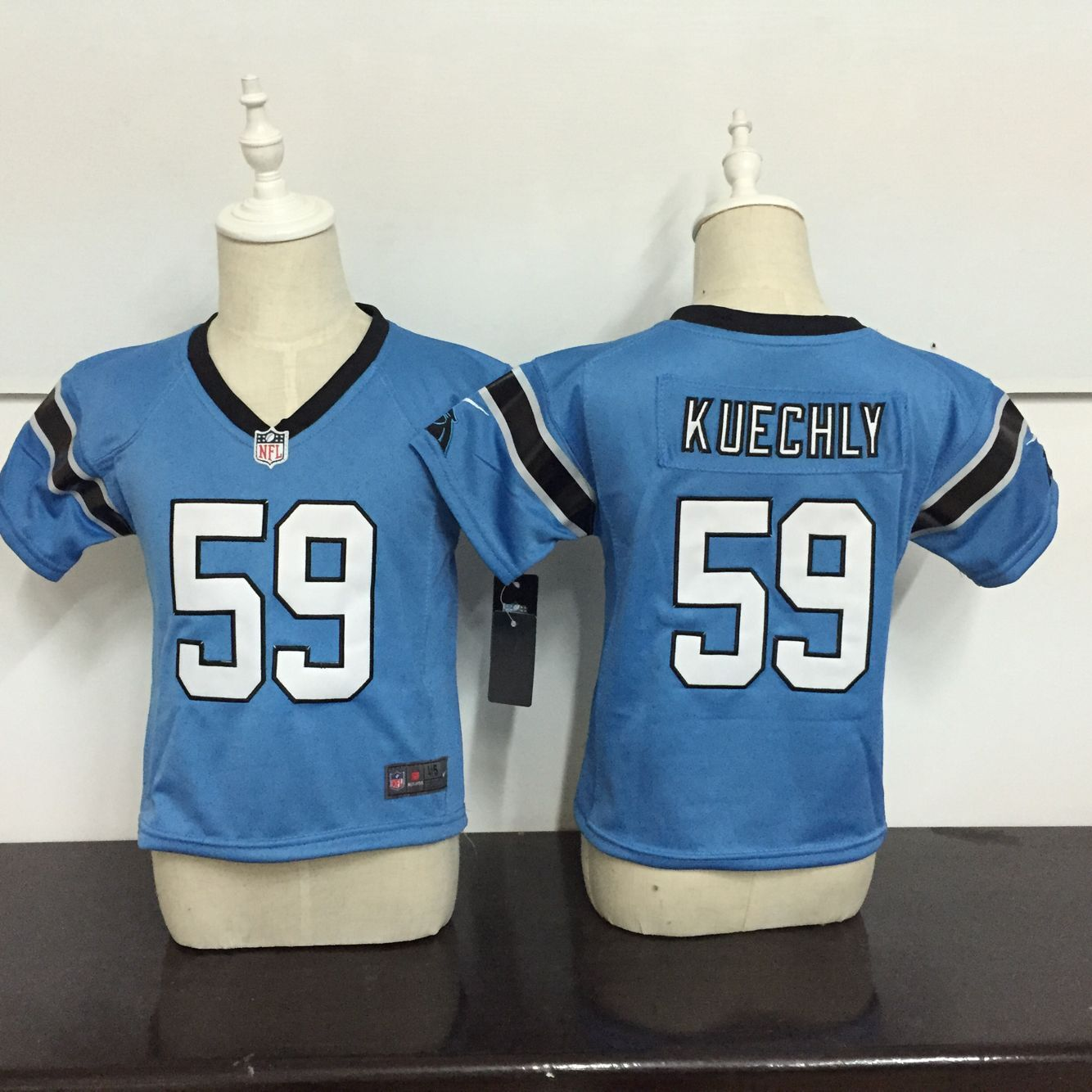 Baby Carolina Panthers 59 Kuechly Blue Nike NFL Jerseys
