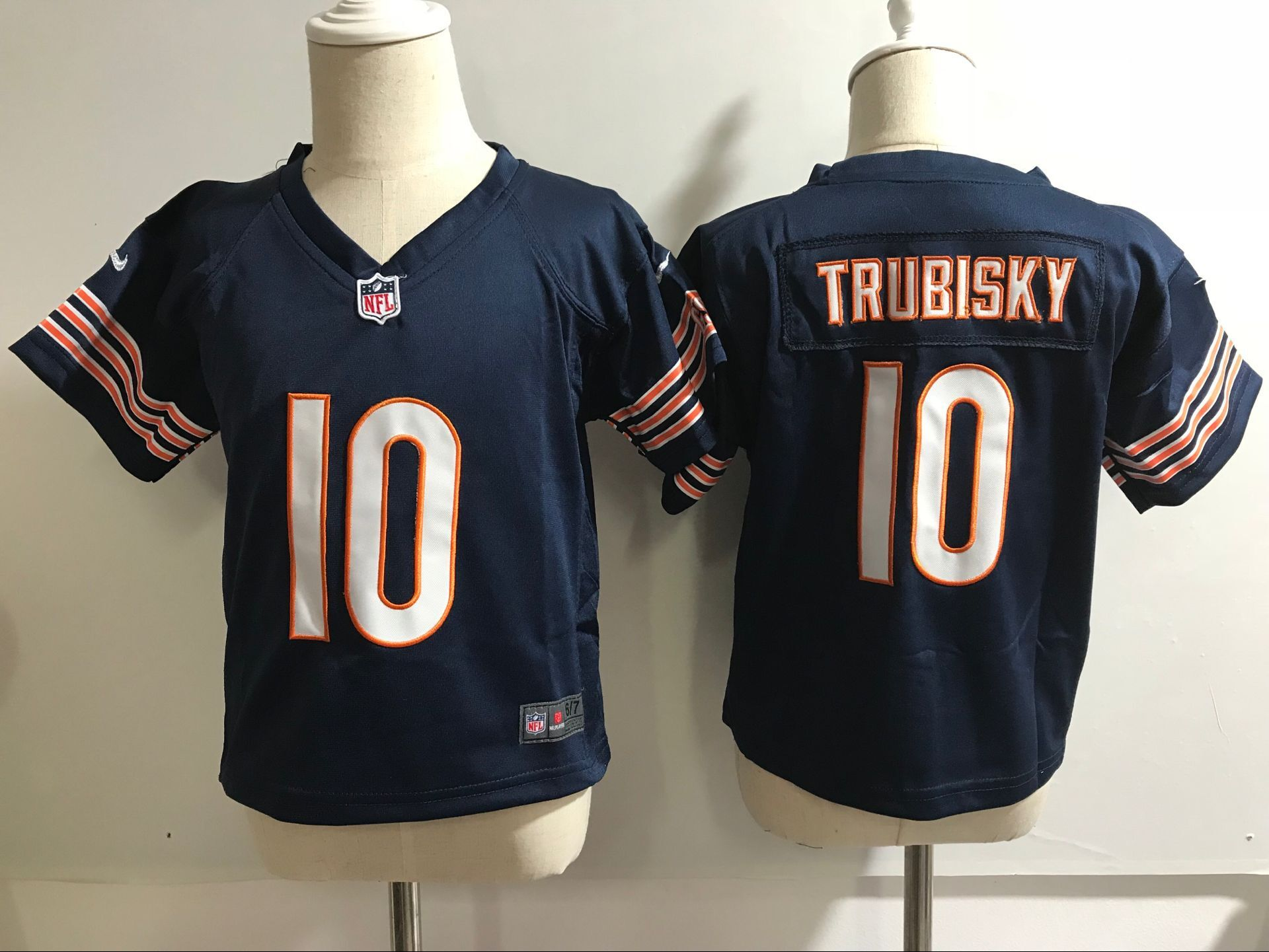 Baby Chicago Bears 10 Trubisky Blue Nike NFL Jerseys