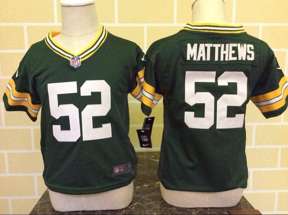 Baby Green Bay Packers 52 Matthews Green Nike NFL Jerseys