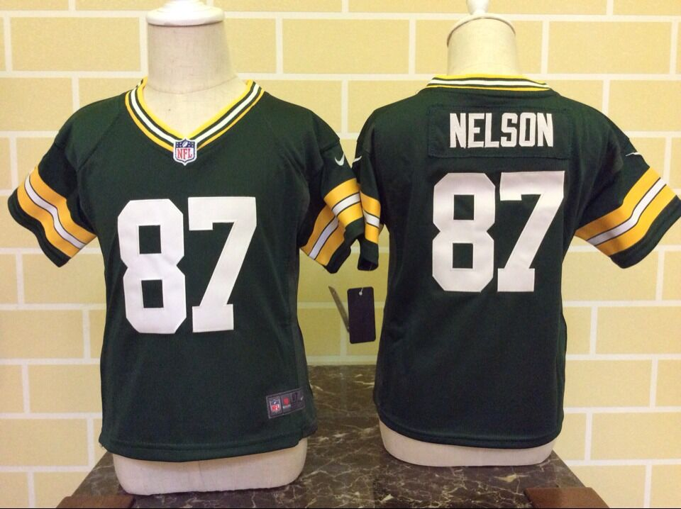 Baby Green Bay Packers 87 Nelson Green Nike NFL Jerseys