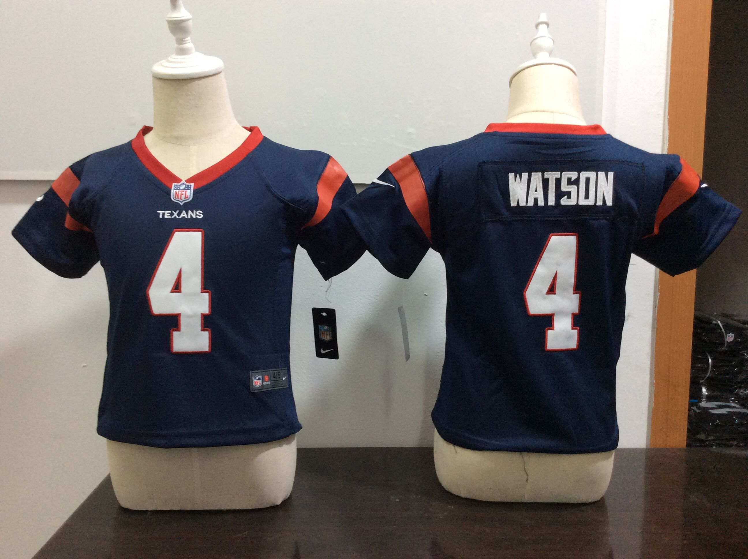 Baby Houston Texans 4 Watson Blue Nike NFL Jerseys