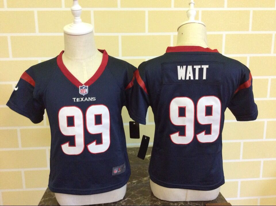 Baby Houston Texans 99 Watt Blue Nike NFL Jerseys