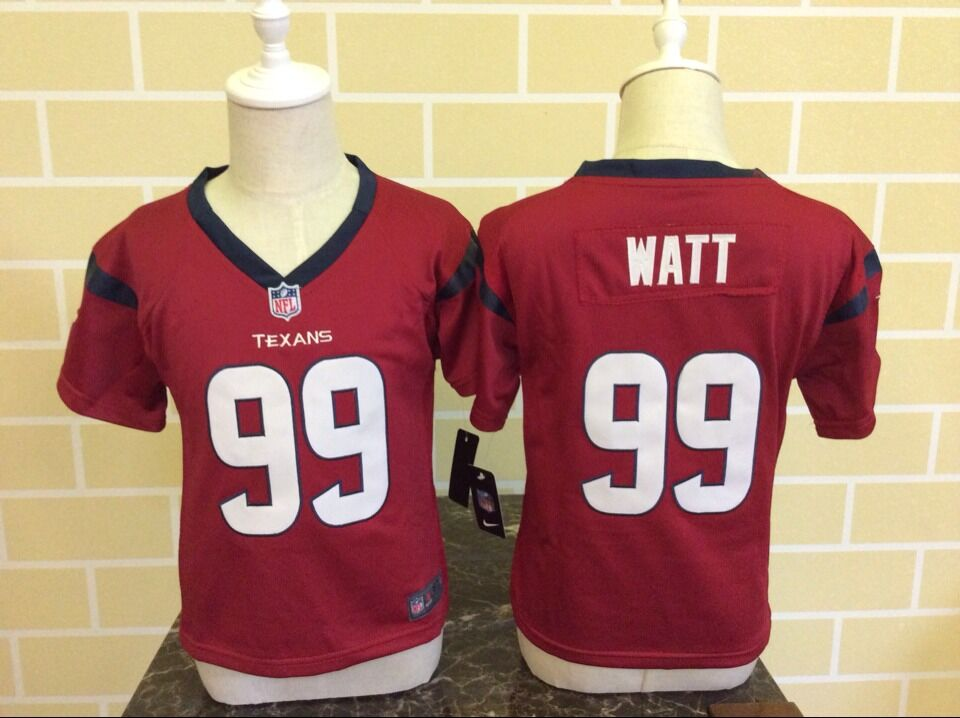 Baby Houston Texans 99 Watt Red Nike NFL Jerseys
