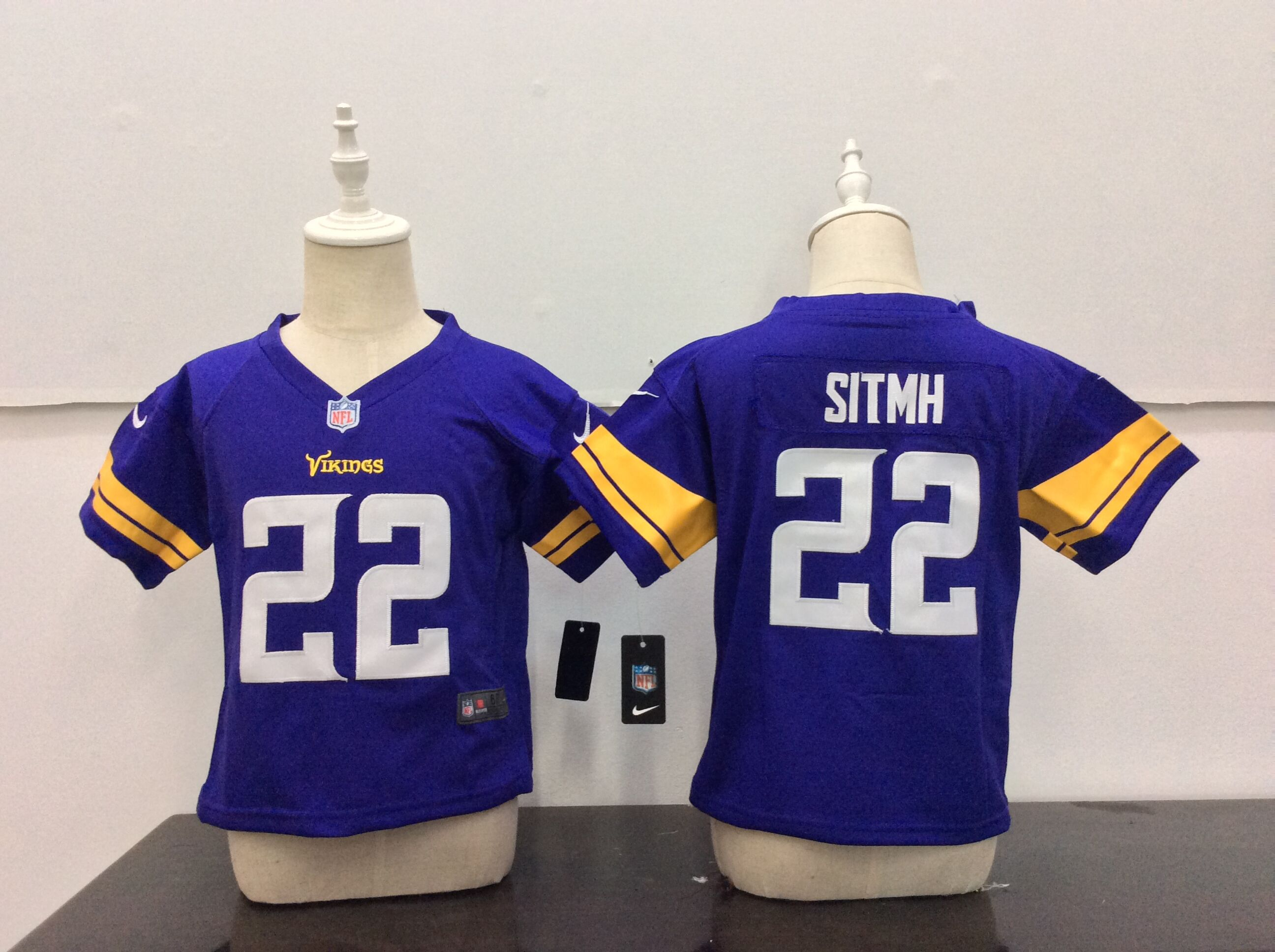Baby Minnesota Vikings 22 Sitmh Purple Nike NFL Jerseys