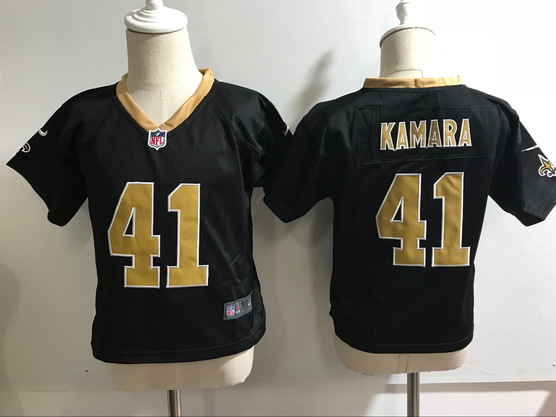 Baby New Orleans Saints 41 Kamara Black Nike NFL Jerseys