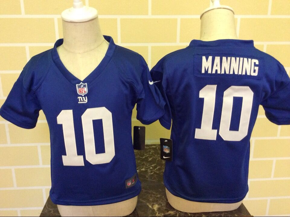 Baby New York Giants 10 Manning Blue Nike NFL Jerseys