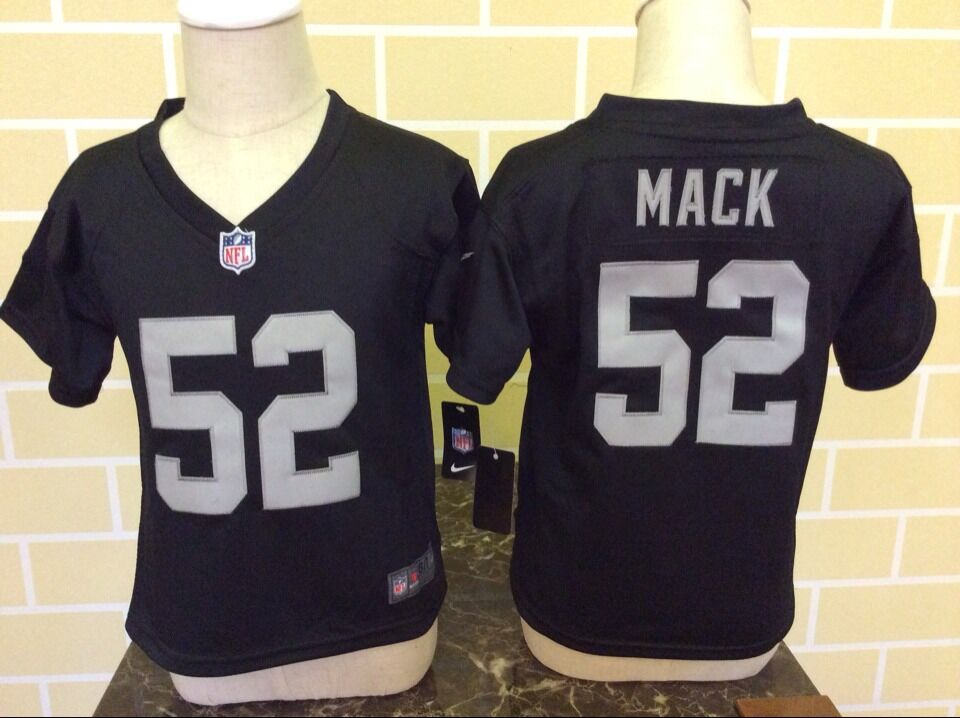 Baby Okaland Raiders 52 Mack Black Nike NFL Jerseys