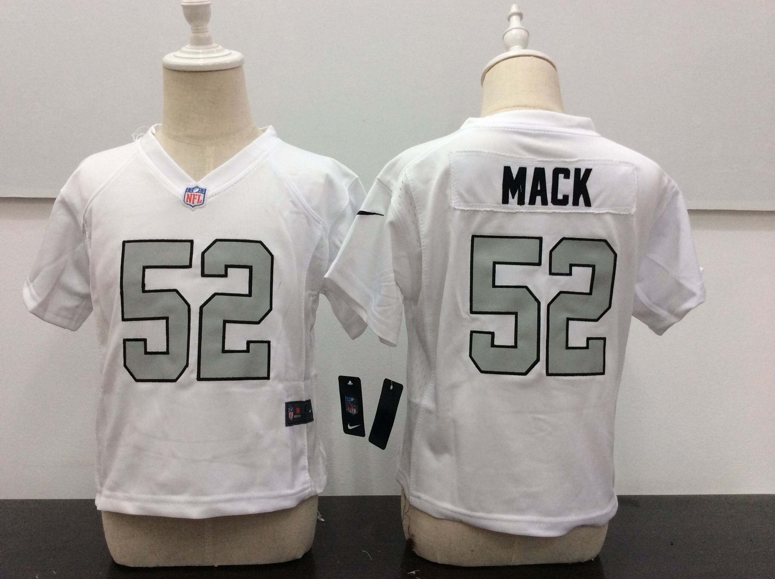 Baby Okaland Raiders 52 Mack White Nike NFL Jerseys