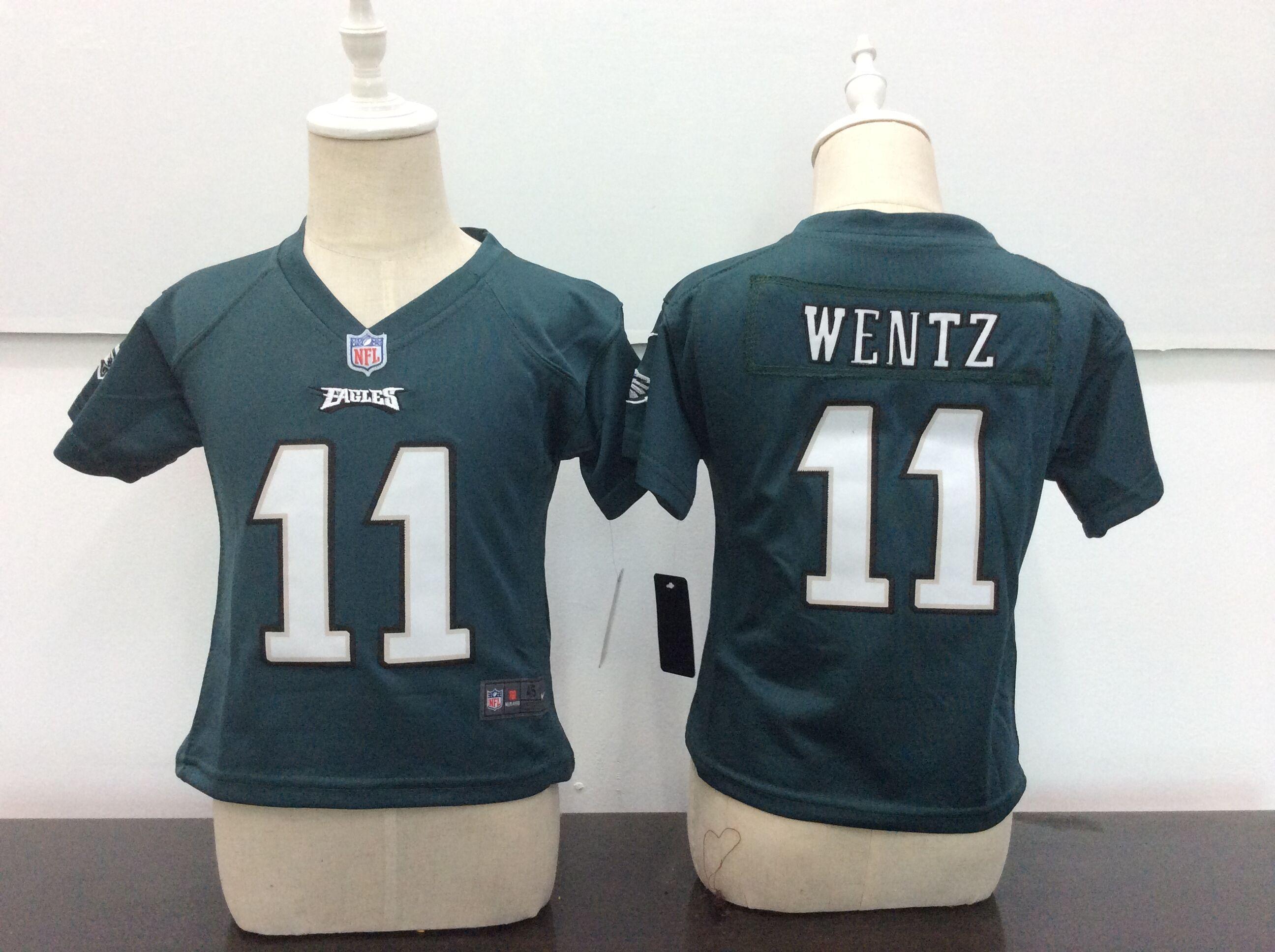 Baby Philadelphia Eagles 11 Wentz Green Nike NFL Jerseys