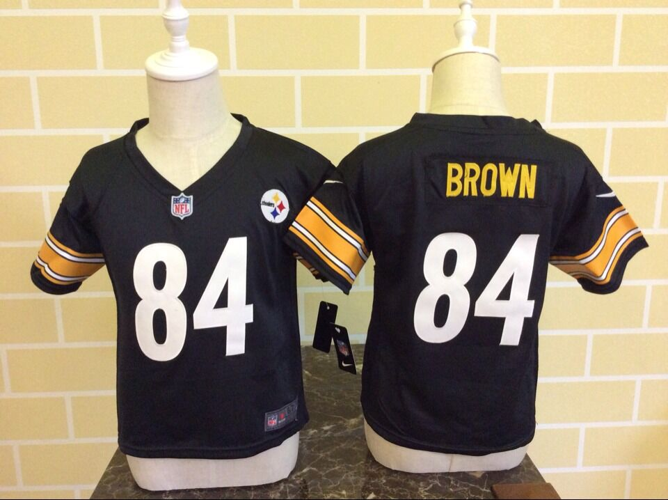 Baby Pittsburgh Steelers 84 Brown Black Nike NFL Jerseys