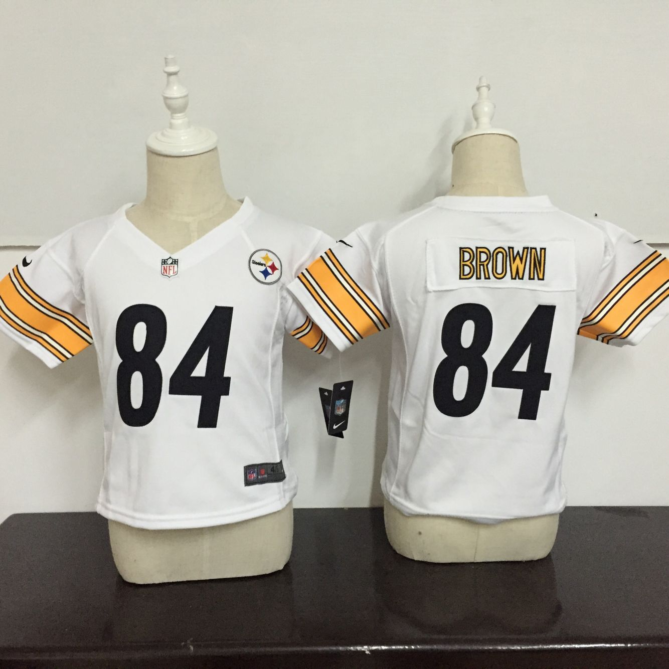 Baby Pittsburgh Steelers 84 Brown White Nike NFL Jerseys