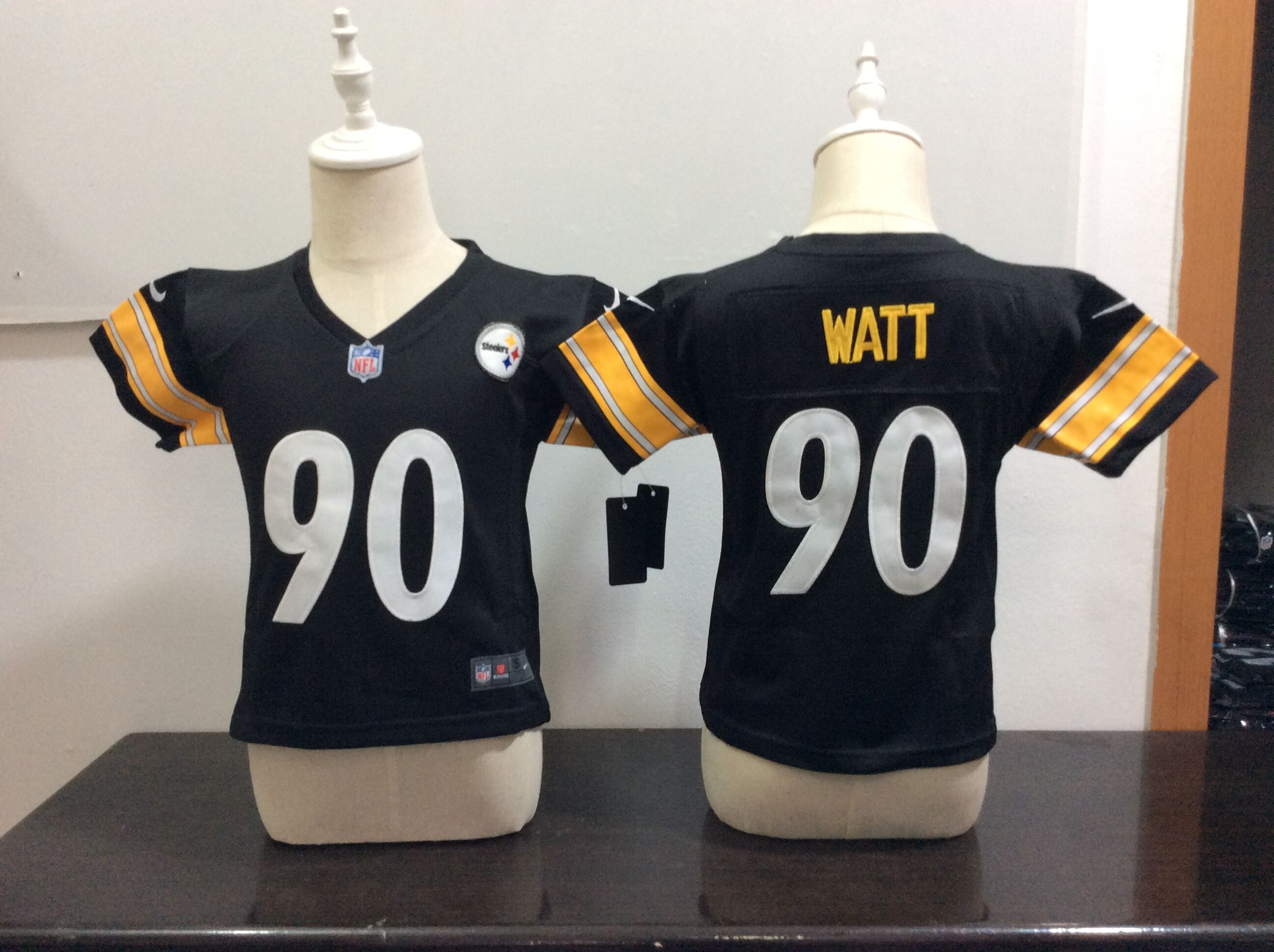 Baby Pittsburgh Steelers 90 Watt Black Nike NFL Jerseys