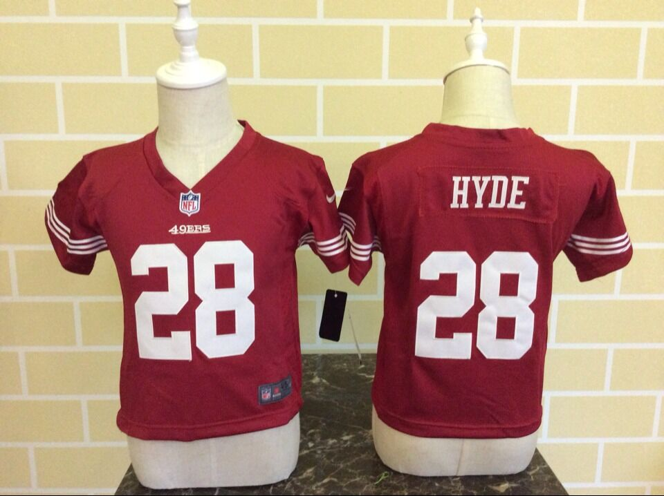 Baby San Francisco 49ers 28 Hyde Red Nike NFL Jerseys