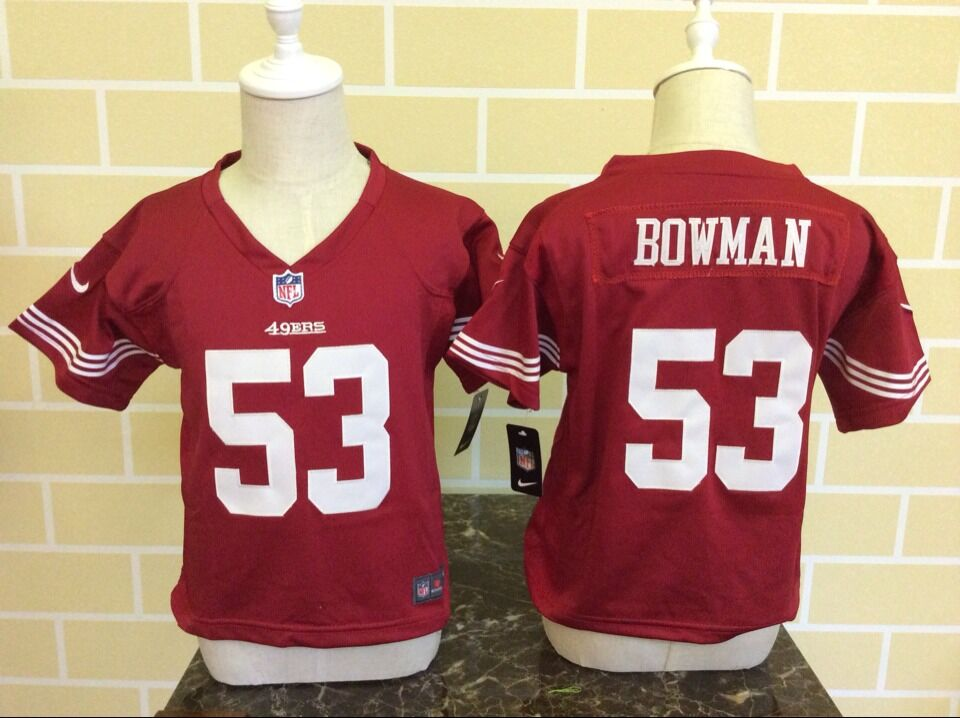 Baby San Francisco 49ers 53 Bowman Red Nike NFL Jerseys