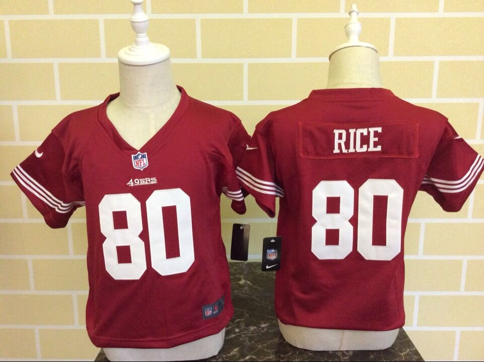 Baby San Francisco 49ers 80 Rice Red Nike NFL Jerseys