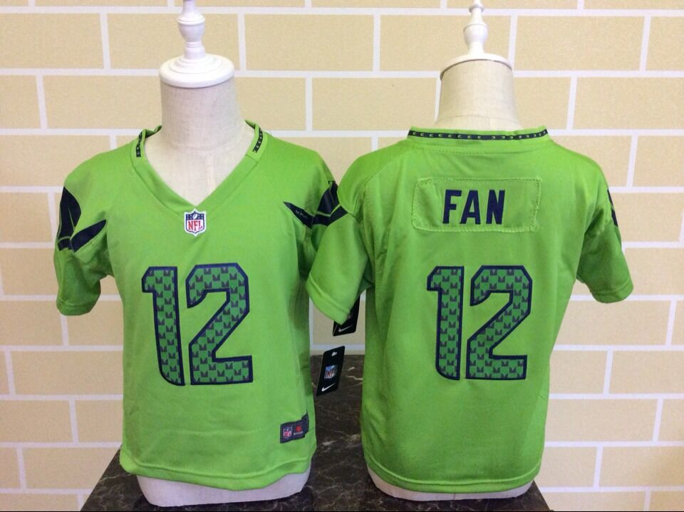 Baby Seattle Seahawks 12 Fan Green Nike NFL Jerseys