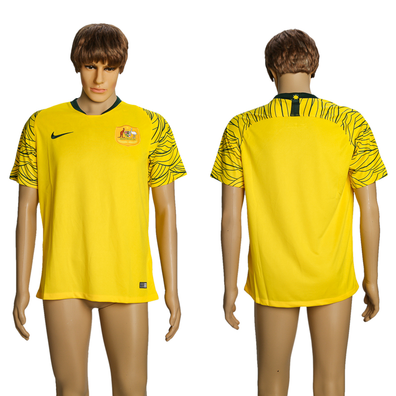 Men 2018 World Cup Australian home AAA soccer jersey