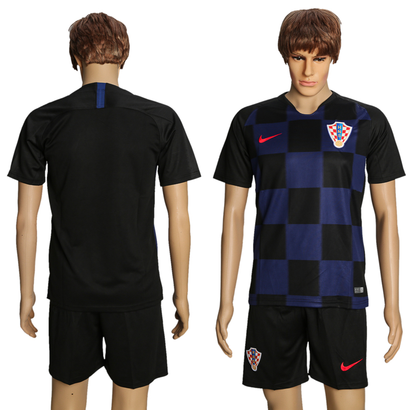 Men 2018 World Cup Croatia away suit soccer jersey