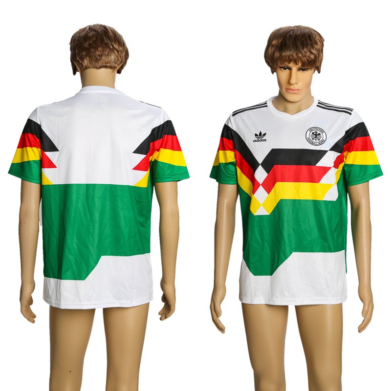 Men 2018 World Cup Germany 1990 Mash-Up Retro AAA+ soccer jersey