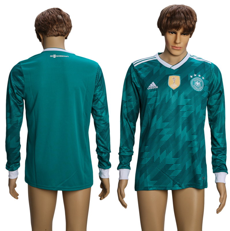 Men 2018 World Cup Germany away long sleeve AAA soccer jersey