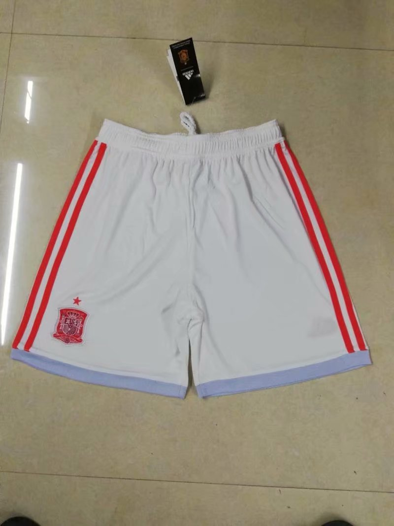 Men 2018 World Cup Spain away Thai soccer shorts