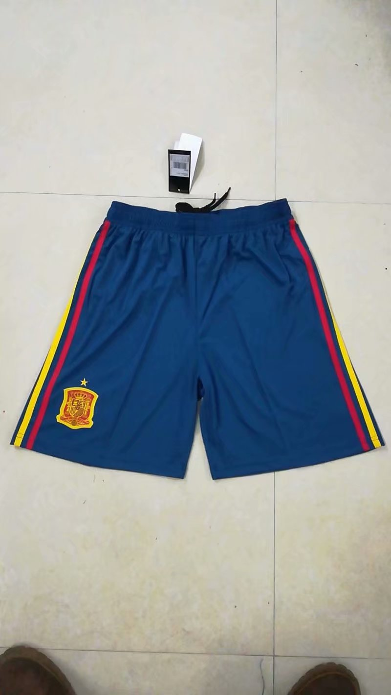 Men 2018 World Cup Spain home Thai soccer shorts