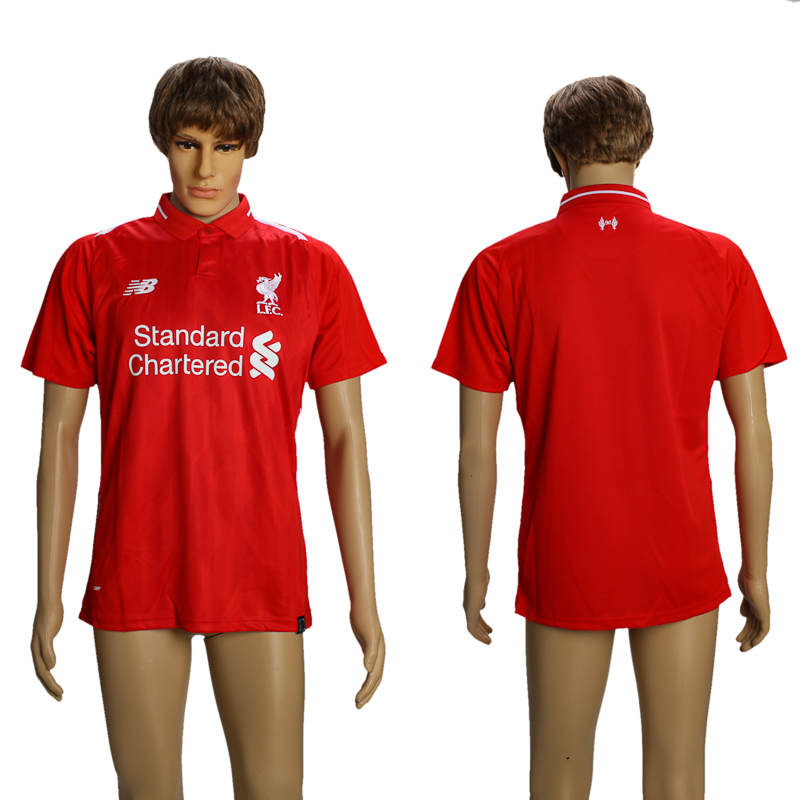 Men 2018-2019 Club Liverpool home AAA soccer jersey