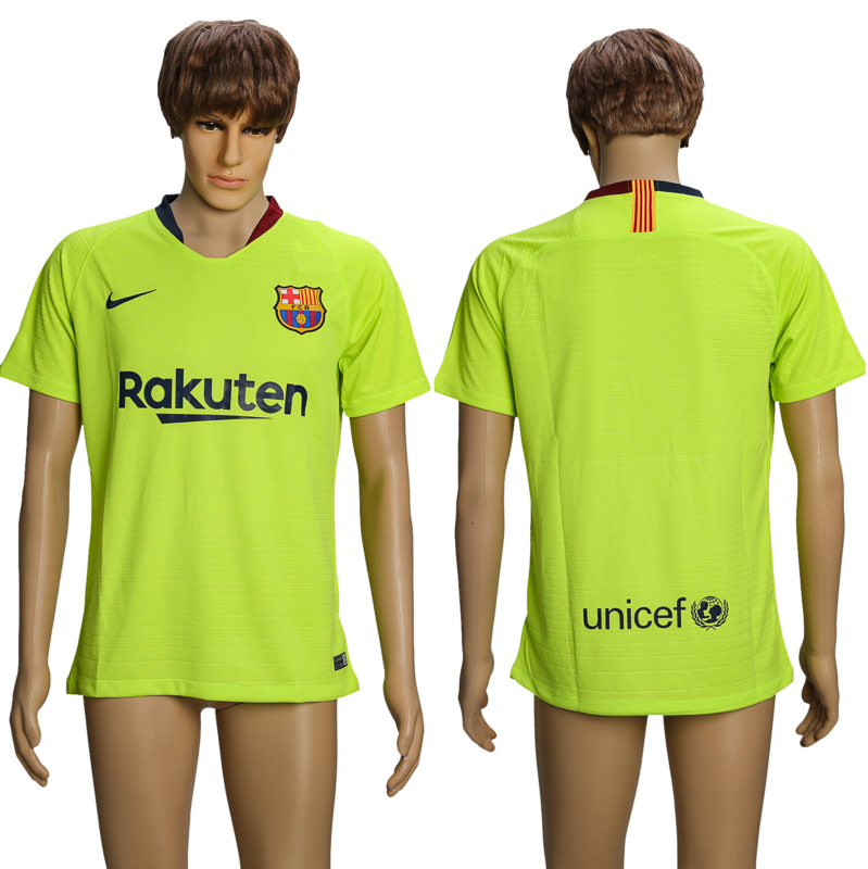 Men 2018-2019 club Barcelona away AAA soccer jersey