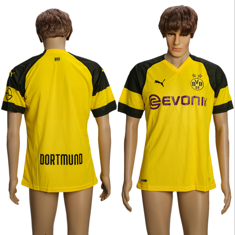 Men 2018-2019 club Dortmund home AAA soccer jersey