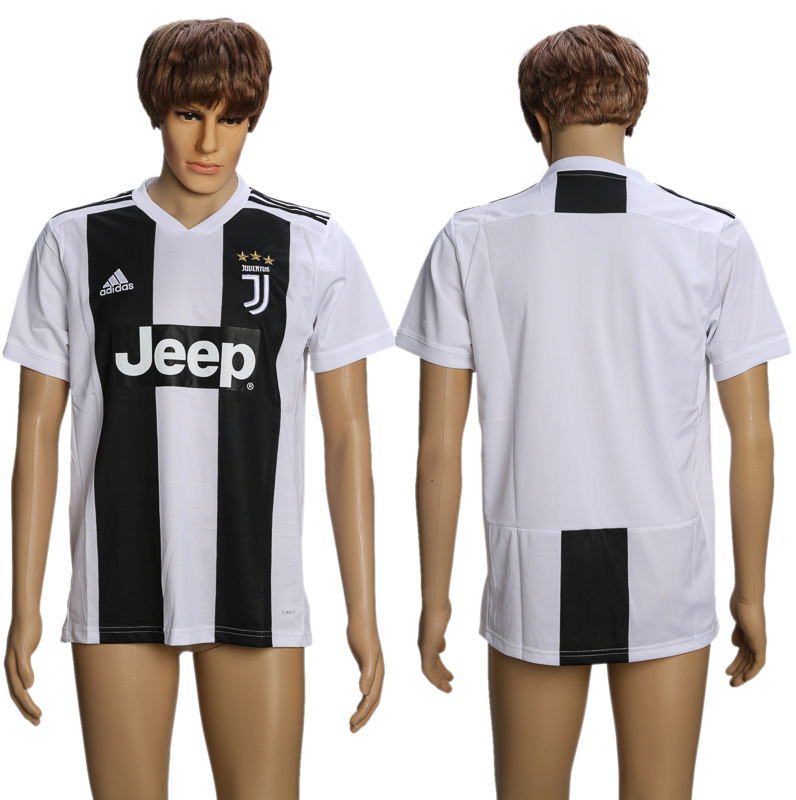 Men 2018-2019 club Juventus home AAA soccer jersey