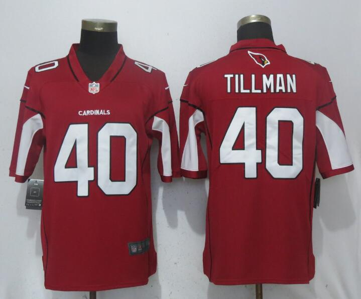 Men Arizona Cardinals 40 Tillman Red Nike Vapor Untouchable Limited Playe NFL Jerseys