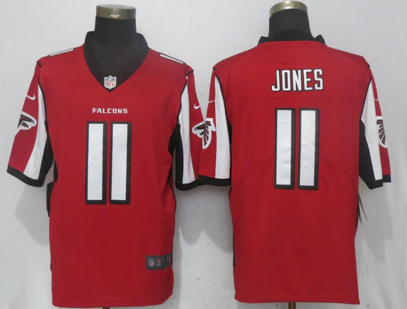 Men Atlanta Falcons 11 Jones Red Nike Vapor Untouchable Limited Playe NFL Jerseys