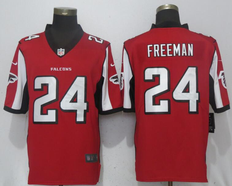 Men Atlanta Falcons 24 Freeman Red Nike Vapor Untouchable Limited Playe NFL Jerseys