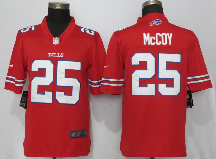 Men Buffalo Bills 25 McCoy Navy Red Color Rush Nike Limited NFL Jerseys