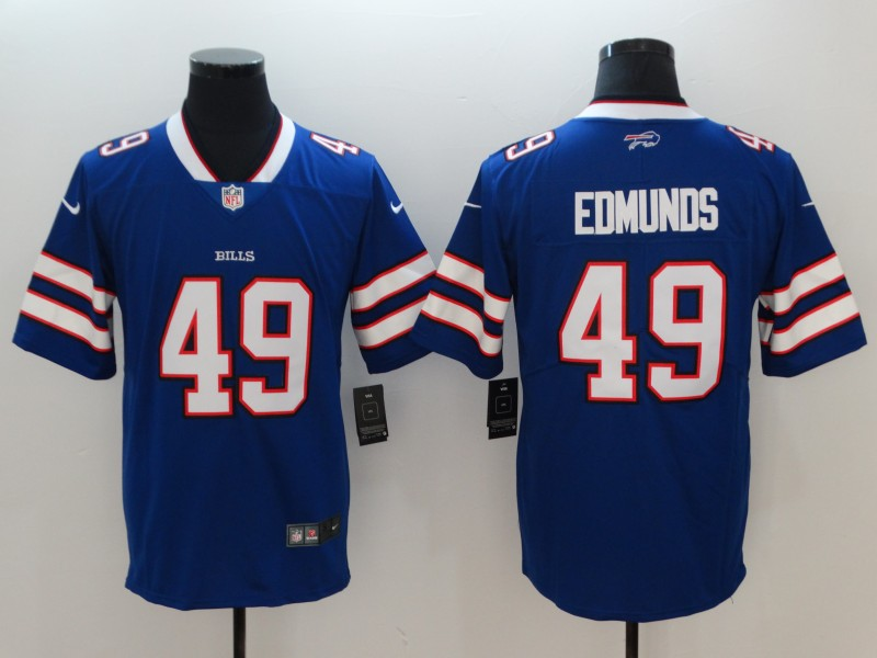 Men Buffalo Bills 49 Edmunds Blue Vapor Untouchable Player Nike Limited NFL Jerseys