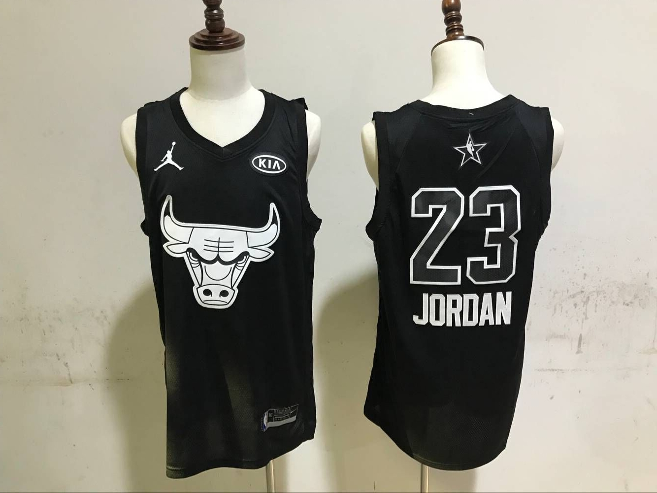 Men Chicago Bulls 23 Jordan Black Nike NBA 2018 All Star Jerseys