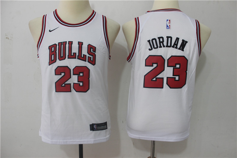 Men Chicago Bulls 23 Michael Jordan White Game Nike NBA Jerseys