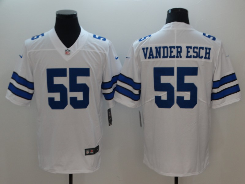 Men Dallas Cowboys 55 Vander esch White Nike Vapor Untouchable Limited Playe NFL Jerseys