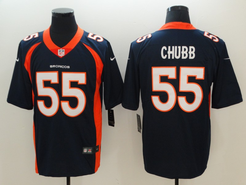 Men Denver Broncos 55 Chubb Blue Nike Vapor Untouchable Limited Playe NFL Jerseys