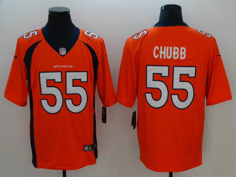 Men Denver Broncos 55 Chubb Orange Nike Vapor Untouchable Limited Playe NFL Jerseys