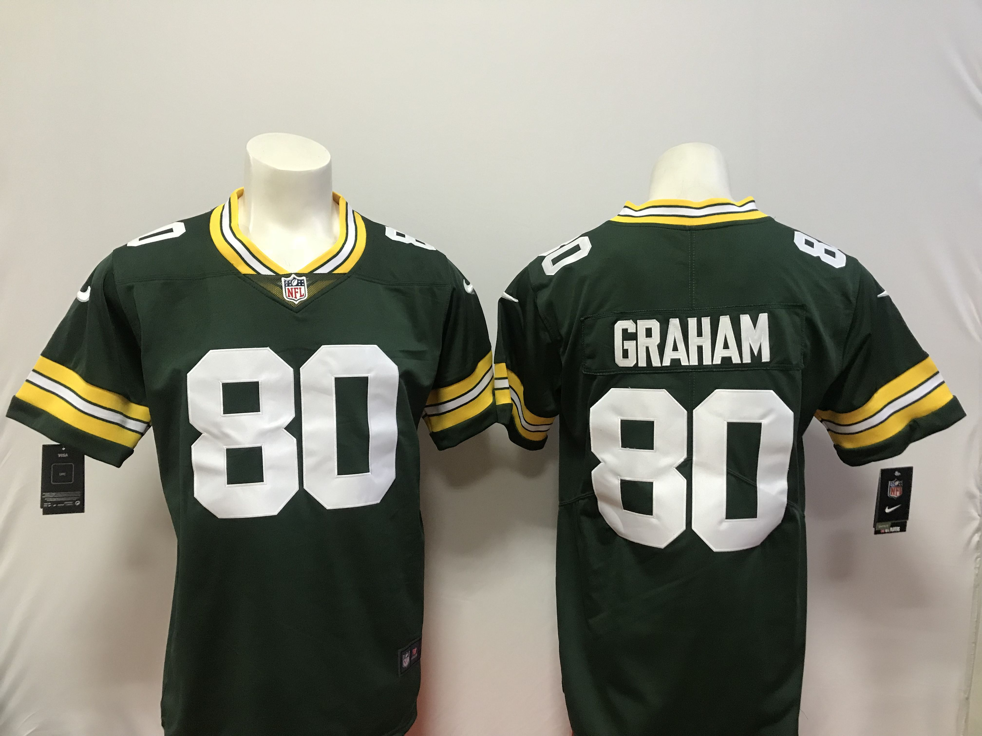 Men Green Bay Packers 80 Graham Green Vapor Untouchable Player Nike Limited NFL Jerseys